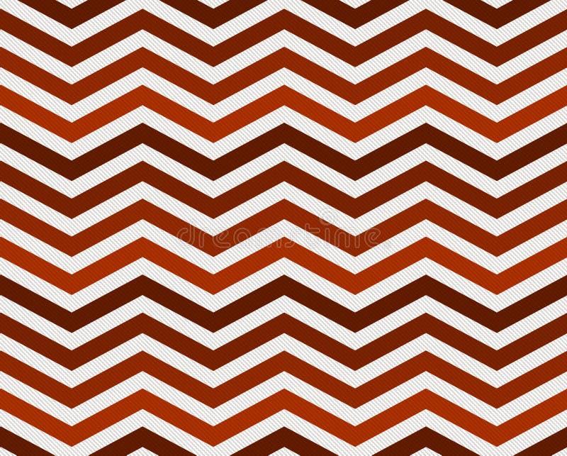 Pomarańcze tkaniny zygzag Textured tło royalty ilustracja
