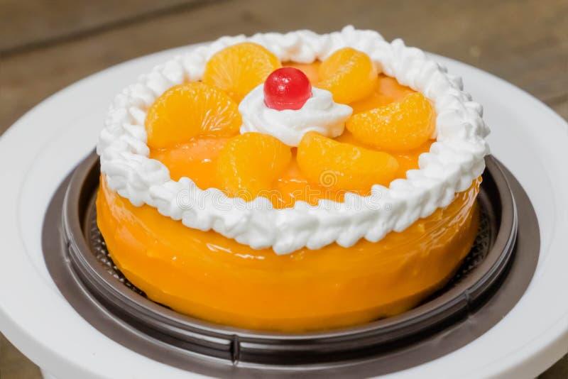 Pomarańcze tort obraz stock