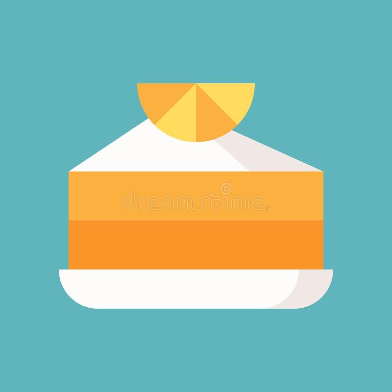 Pomarańcze tort, cukierki i ciasto set, płaska projekt ikona ilustracja wektor