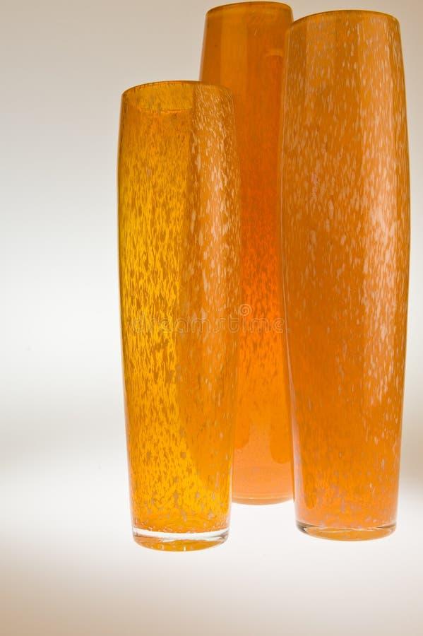 pomarańcze trzy wazy zdjęcie stock