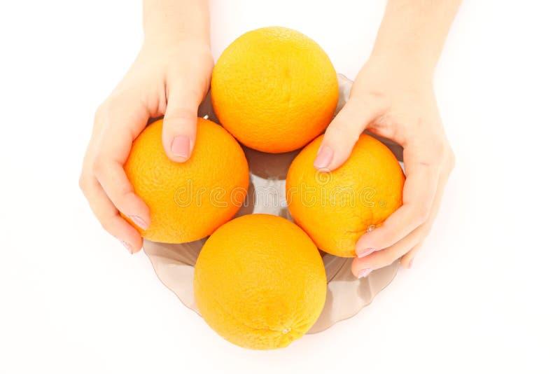 Pomarańcze w pucharze zdjęcie stock