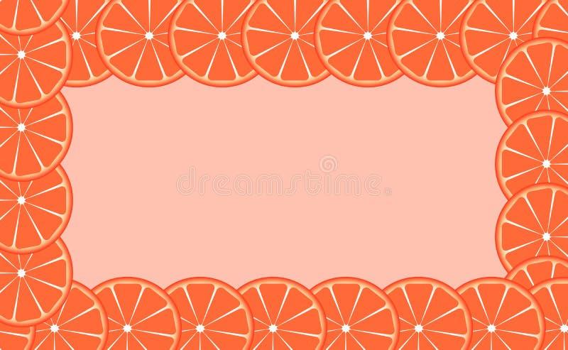 Pomarańcze (wapno) ramowa wektorowa ilustracja royalty ilustracja