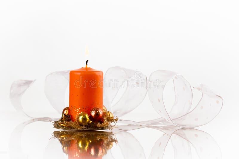 Pomarańczowa świeczka fotografia royalty free