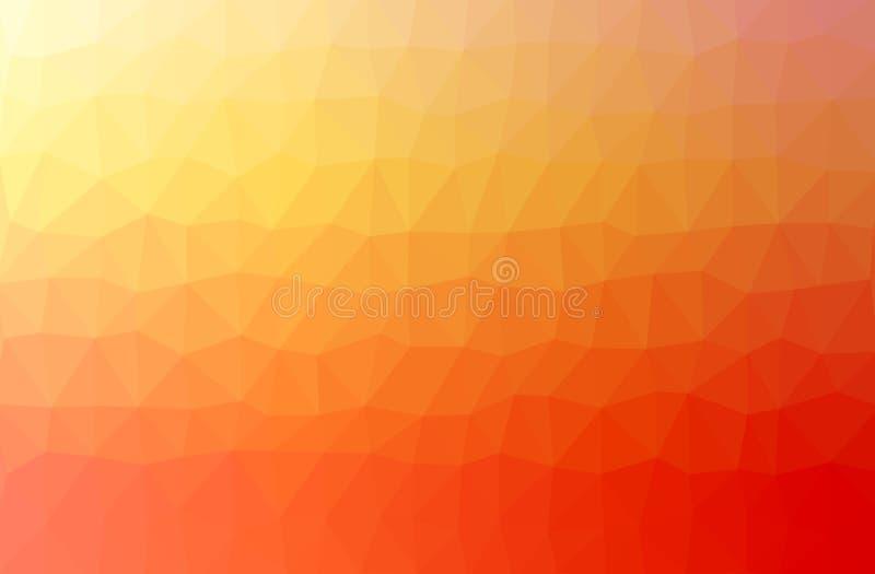 Pomarańczowa abstrakcjonistyczna geometryczna miętosząca trójgraniasta niska poli- stylowa ilustracja royalty ilustracja