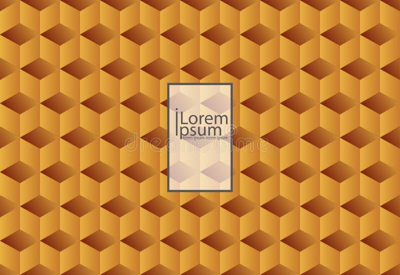Pomarańczowa abstrakcjonistyczna tekstura Wektorowy tła 3d papier royalty ilustracja