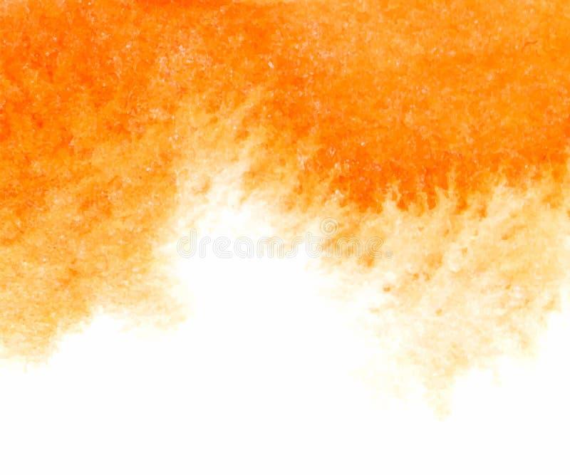 Pomarańczowa abstrakcjonistyczna wektorowa akwarela textured tło ilustracja wektor