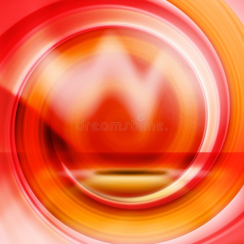 pomarańczowa abstrakcyjna czerwone. royalty ilustracja