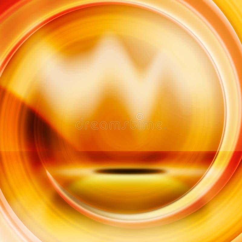 pomarańczowa abstrakcyjna czerwone. ilustracja wektor