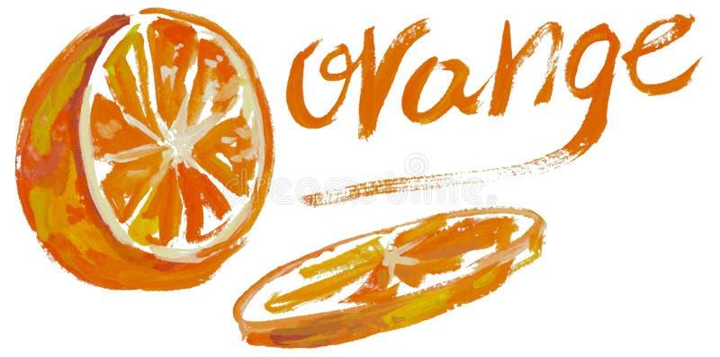 pomarańczowa akwarela royalty ilustracja