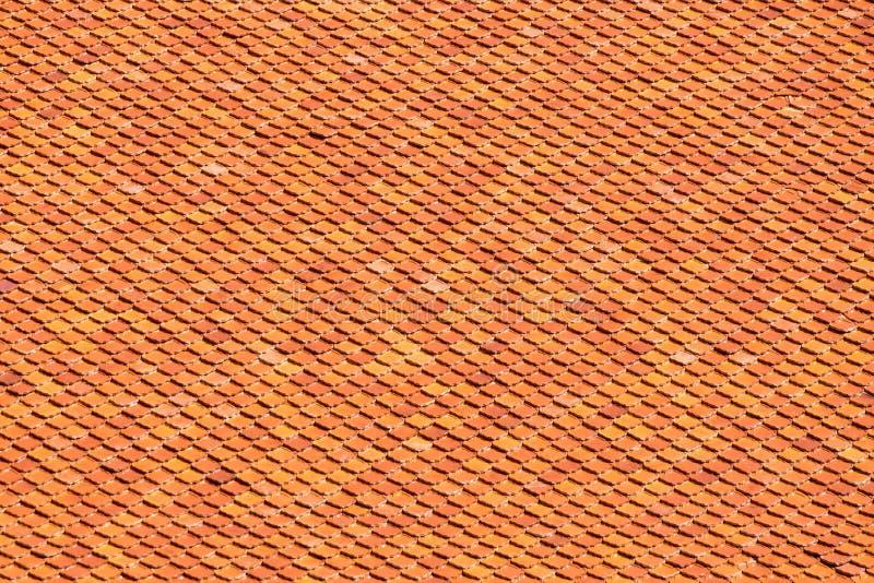 Pomarańczowa Brown Dachowa płytka dla tekstur i tła royalty ilustracja