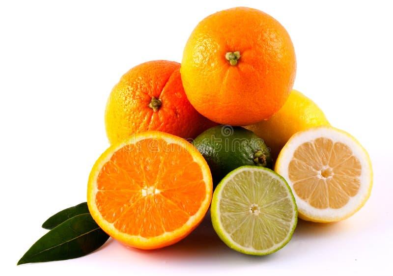 Pomarańczowa Cytryna i Wapno obraz stock