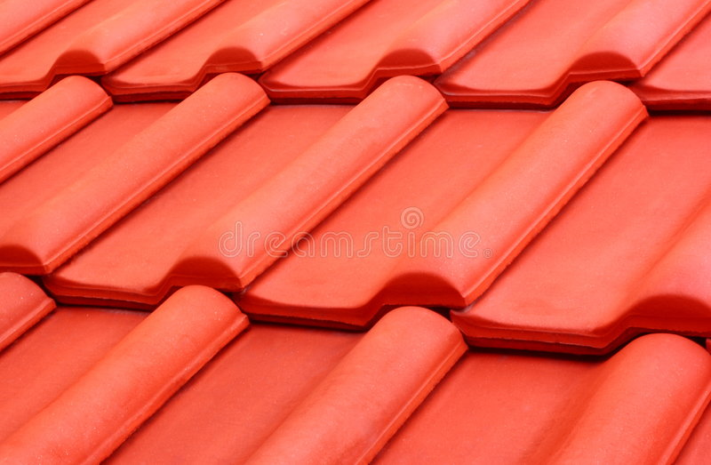 pomarańczowa dachowa płytka obraz stock