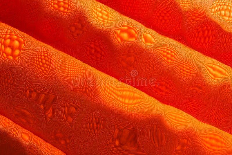 Pomarańczowa druk tkanina zdjęcia stock