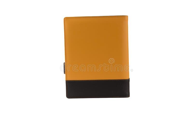 Pomarańczowa dzienniczek książka obraz stock