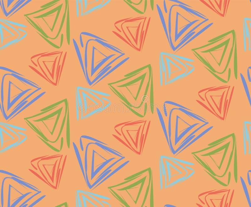 Pomarańczowa geometryczna deseniowa ilustracja ilustracji