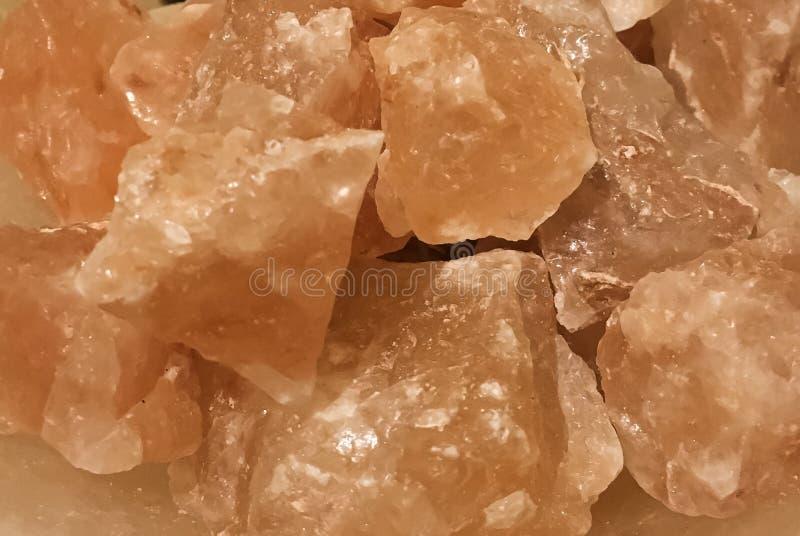 Pomarańczowa Himalajska sól składa zbliżenie fotografia stock