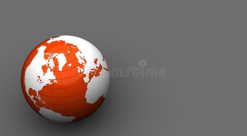 Pomarańczowa i biały kula ziemska 3d royalty ilustracja