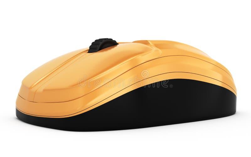 Pomarańczowa komputerowa mysz ilustracja wektor
