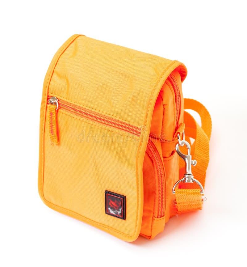 Pomarańczowa Naramienna torba obraz royalty free