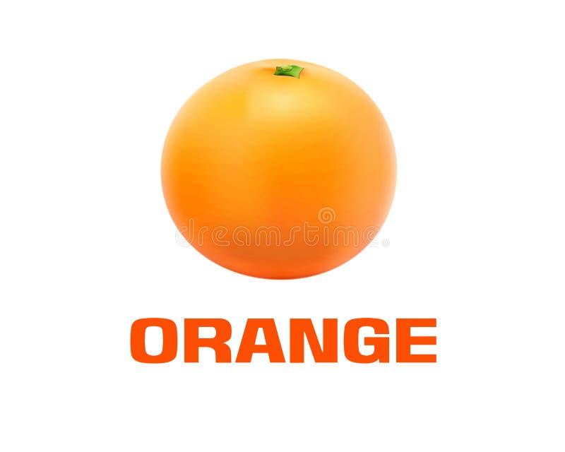 Pomarańczowa owoc royalty ilustracja