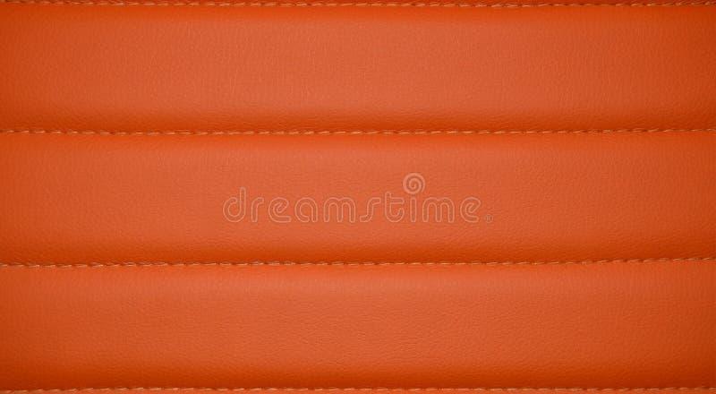 Pomarańczowa piękna rzemienna tekstura jako tło fotografia stock