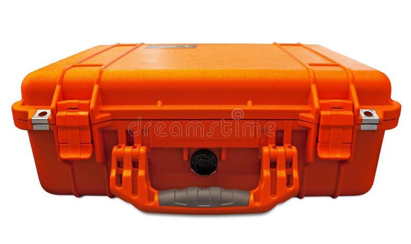 pomarańczowa skrzynka ochrona obraz stock