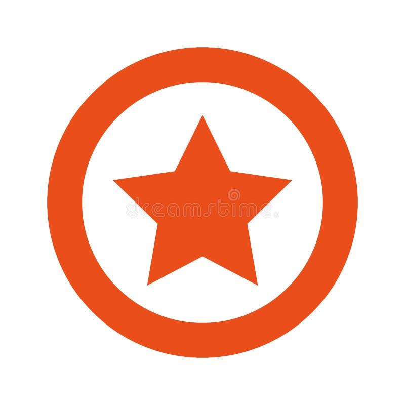 pomarańczowa symbol gwiazdy ikona royalty ilustracja