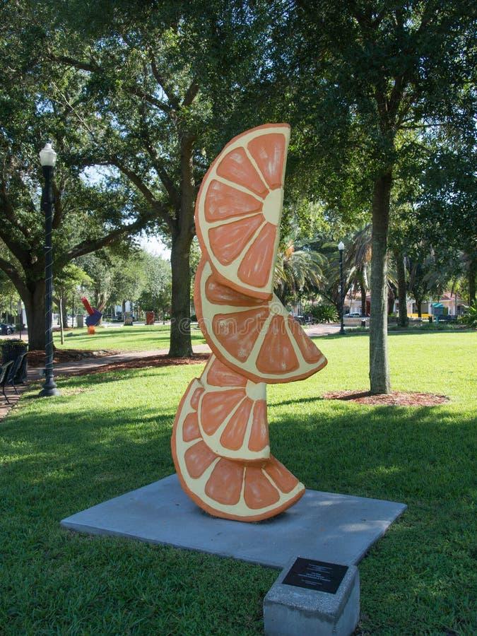 pomarańczowa sztuka obrazy stock
