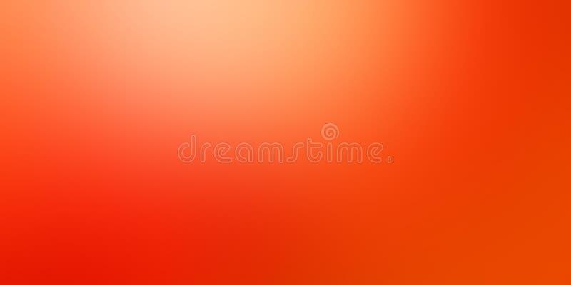 Pomarańczowa tło plama w miękkim czerwonym kolorze żółtym i pomarańcze barwi z lekkiego koloru pluśnięciem na wierzchoł royalty ilustracja