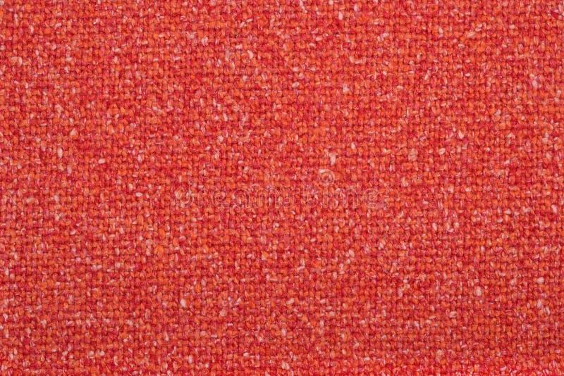 Pomarańczowa tweed wełny tkaniny tekstura fotografia stock