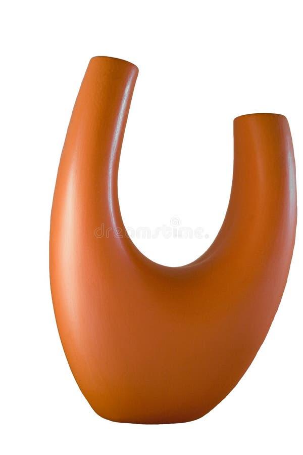 pomarańczowa waza fotografia stock