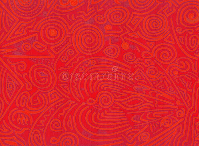 pomarańczowe abstrakcjonistyczni organicznych czerwone ilustracji