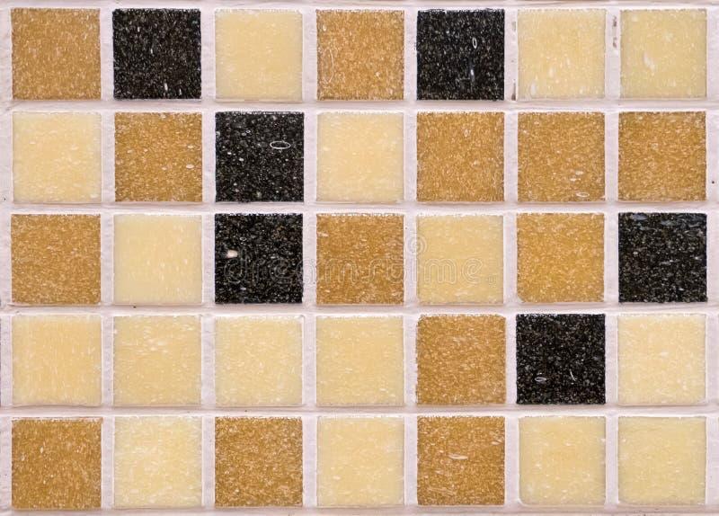 pomarańczowe mozaik płytki, deseniowy bezszwowy dla dekoraci zdjęcia stock