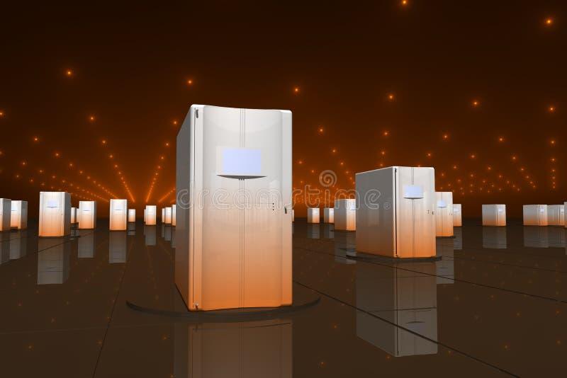 pomarańczowe serwery ilustracji