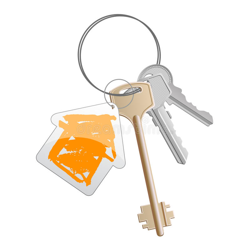 pomarańczowego 2 klucza ilustracja wektor