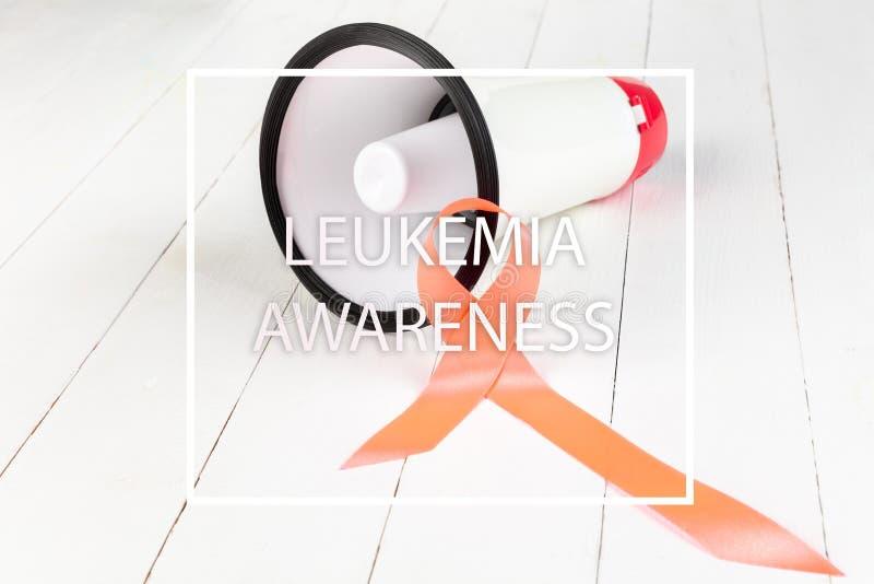 Pomarańczowego faborku, białaczki nowotworu świadomość, i stwardnienie rozsiane świadomość zdjęcia royalty free
