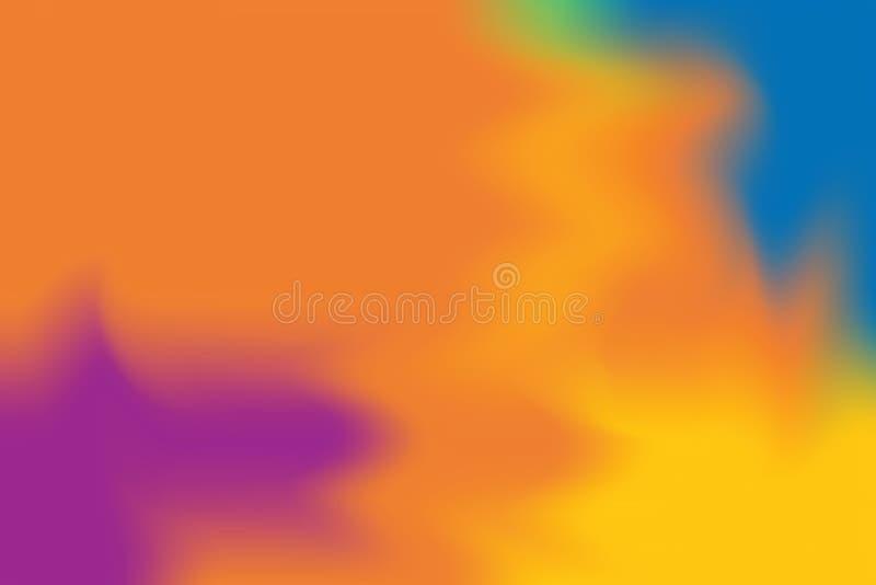 Pomarańczowego koloru żółtego błękitny purpurowy miękki kolor mieszał tło obrazu sztuki pastelowego abstrakt, kolorowa sztuki tap ilustracji