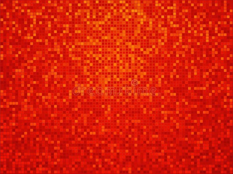 Pomarańczowego koloru żółtego czerwony w kratkę tło royalty ilustracja