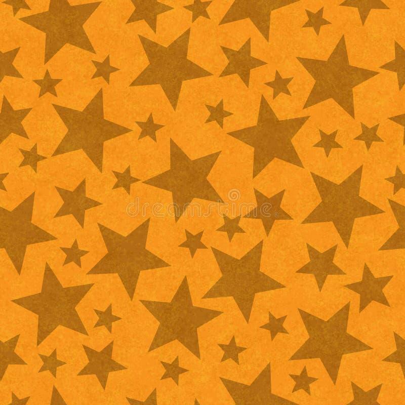 Pomarańczowego kształta bezszwowy deseniowy tło royalty ilustracja