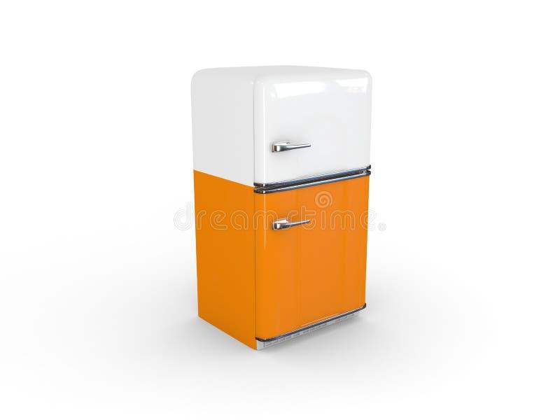 pomarańczowej chłodziarki retro biel obrazy royalty free