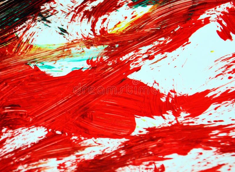Pomarańczowej czerwieni obrazu akwareli ciemny tło, abstrakcjonistyczny obraz akwareli tło fotografia royalty free