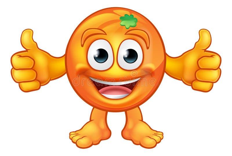 Pomarańczowej kreskówki maskotki Owocowy charakter ilustracja wektor