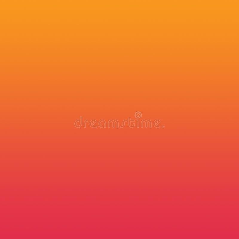 Pomarańczowej rewolucjonistki Ombre Gradientowego tła Jaskrawy wzór ilustracji