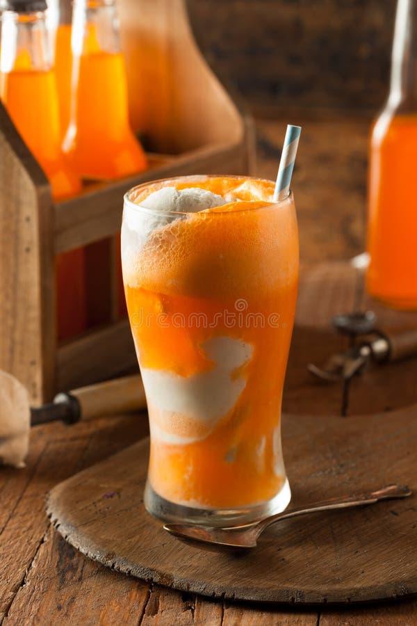 Pomarańczowej sody Creamsicle lody pławik obraz stock
