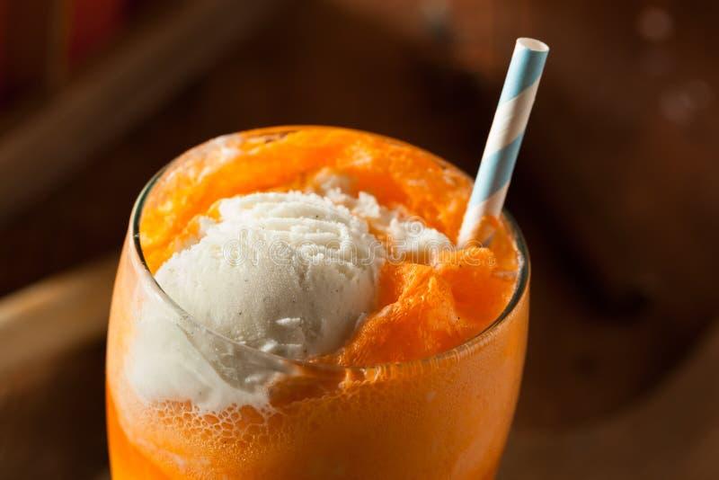 Pomarańczowej sody Creamsicle lody pławik fotografia stock