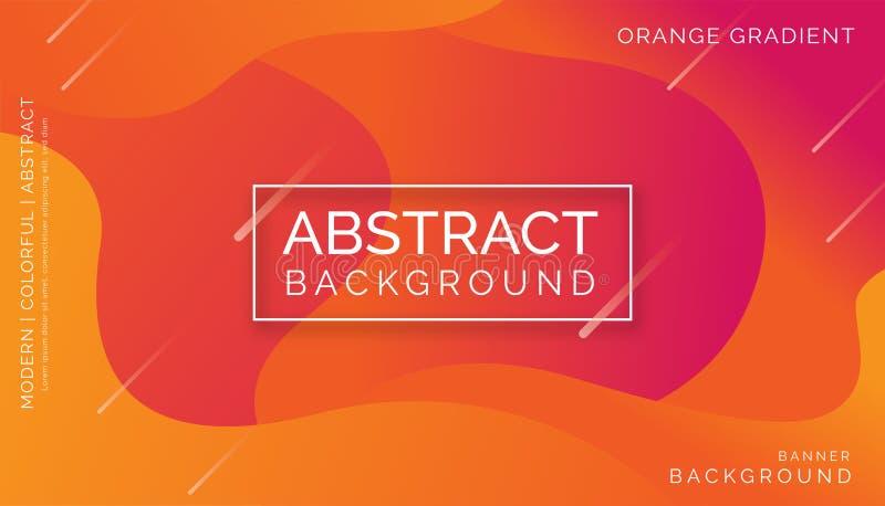 Pomarańczowi Abstrakcjonistyczni tła, Nowożytni Kolorowi tła, Dynamiczni Abstrakcjonistyczni tła royalty ilustracja