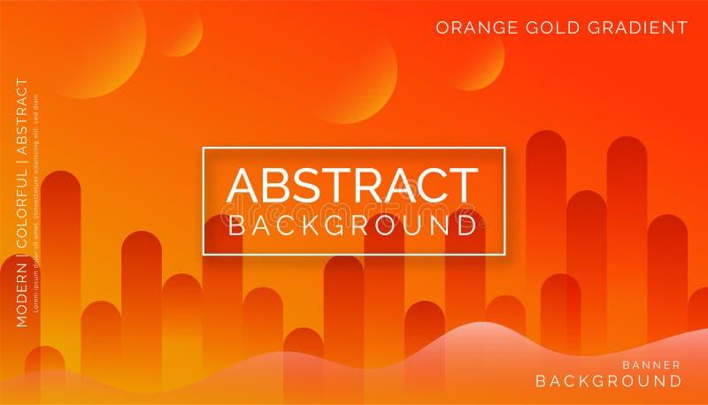 Pomarańczowi Abstrakcjonistyczni tła, Nowożytni Kolorowi tła, Dynamiczni Abstrakcjonistyczni tła obraz royalty free
