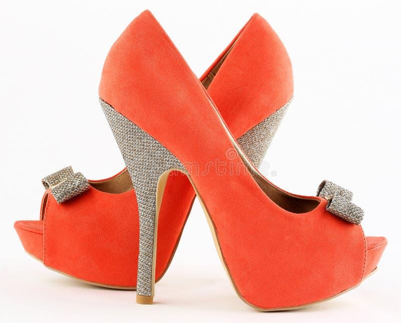 Pomarańczowi buty zdjęcia stock