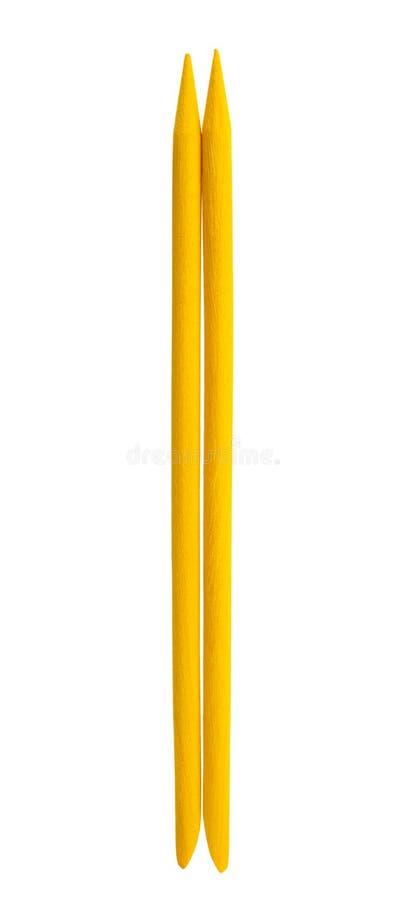 Pomarańczowi gwoździ kije odizolowywający zdjęcie stock