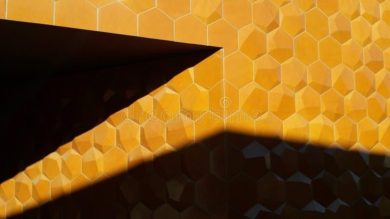 Pomarańczowi hexagonas w cieniu fotografia stock